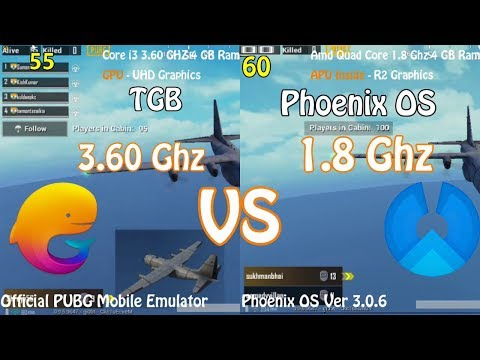 Tencent Gaming Buddy Vs Phoenix OS PUBG Mobile Comparison Which One Win ?