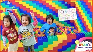 No Boys Allowed in the Giant Lego Box Fort!!!!