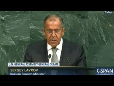 """""""NATO Is Trying To Restore The Climate Of The Cold War!"""" Sergey Lavrov Russian Foreign Minister UNGA"""