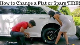 How to CHANGE a Flat or Spare TIRE on any vehicle