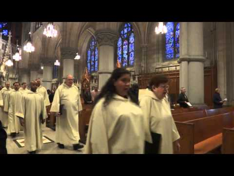 Cathedral Basilica of the Sacred Heart December 8th, 2013 entrance procession