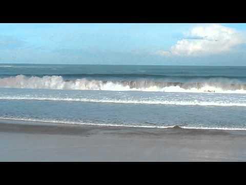 Swell on the Cantabrian Sea, Sardinero beach.