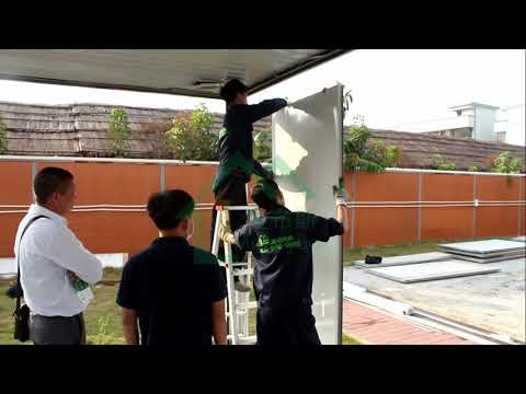 Flat Pack Container House Installation