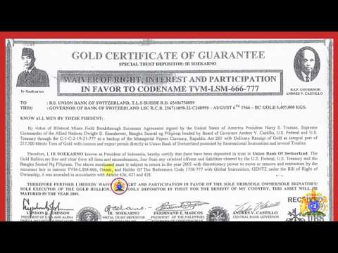 UBS GOLD CERTIFICATE OF GUARANTEE (5.4 million KGS) IN FAVOR TO HRH. TVM-LSM-666