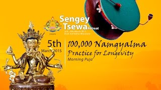 5 Mar : Morning Puja: 100,000 Namgyalma Practice for Longevity
