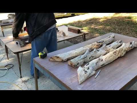 """Driftwood is Nature's Art"" - Turning a piece of driftwood into wall art"