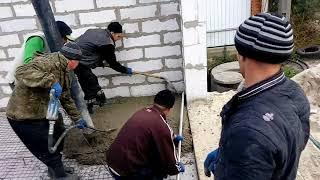 Как залить стяжку пола с помощью бетононасоса за 10 минут Часть №1(, 2017-11-03T13:01:49.000Z)