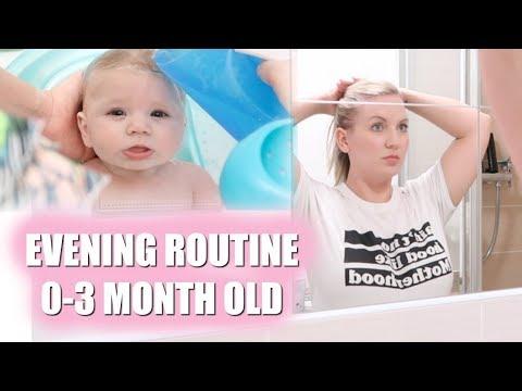 EVENING ROUTINE | 0-3 MONTH OLD BABY | Sarah-Jayne Fragola