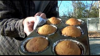 Baking With Coal In Butterfly Camping Oven