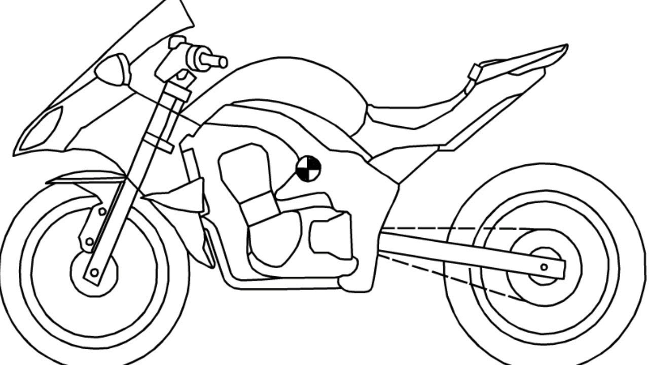 Kawasaki Ninja Sports Bike Drawing How To Draw Kawasaki Sports Motorcycle Youtube