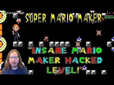 "Super Mario Maker: ""INSANE MARIO MAKER HACKED LEVEL!"""