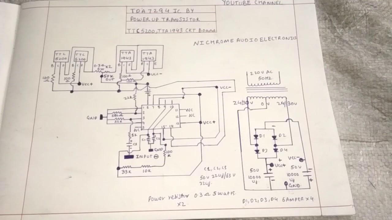 Tda7294 Subwoofer Amplifier Circuit Diagram