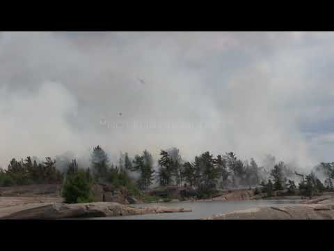 FOREST FIRE DISASTER NEAR PARRY SOUND, ON: Scenes From Ground Zero - 07/21/18