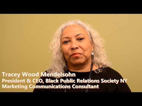 Keys to Building a PR Business & Black Public Relations Society NY, Tracey Wood Mendelsohn