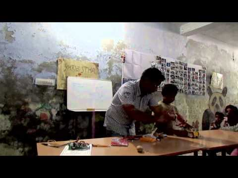 Workshop on Science Experiments for slum and street children