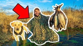 Homemade GHILLIE SUIT Duck Hunting CHALLENGE!!! (Catch Clean Cook)