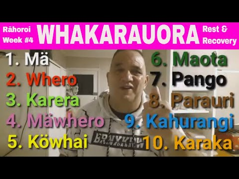 WHAKARAUORA - WEEK #4  MÄORI LANGUAGE REVITALISATION 2018 -