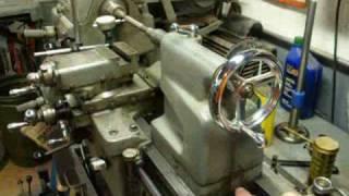 Lathe tailstock alignment setup — photo 1