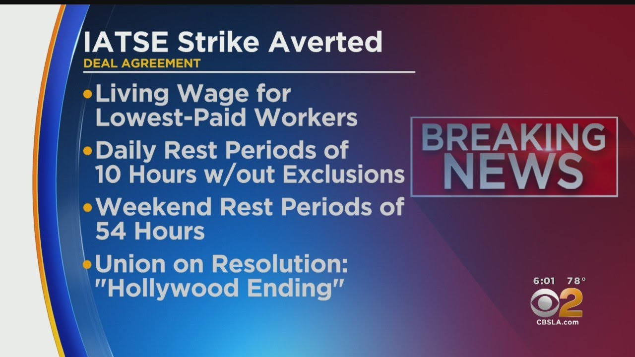 IATSE Avoid Strike, Comes To Agreement With AMPTP
