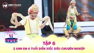 Biệt tài tí hon | tập 6: Trấn Thành bị 2 anh em Minh Quang, Minh Nhựt phạt nhảy múa với con trăn