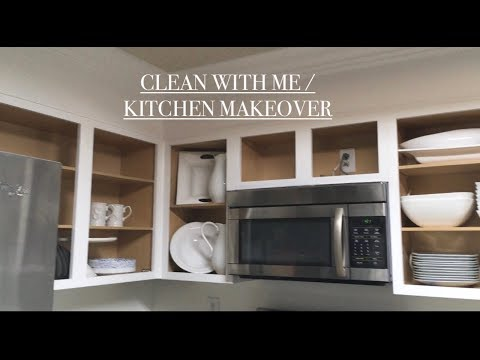 Clean with me 2019 / kitchen makeover /painted cabinets