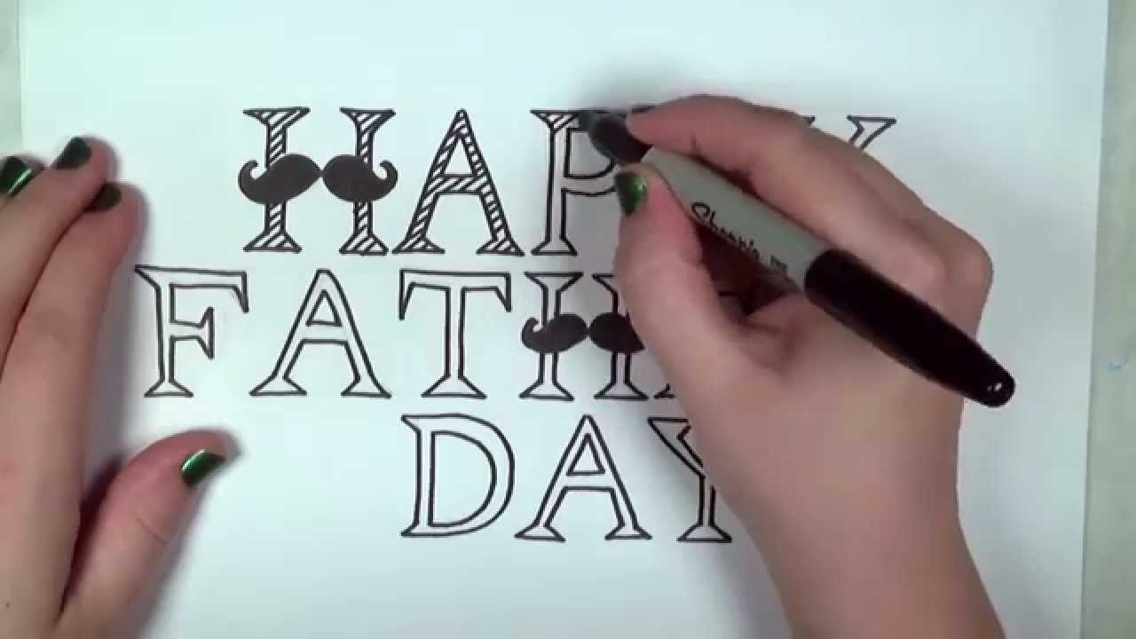 Happy Fathers Day Card Drawing Lesson