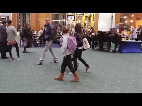 Bohemian Rhapsody on piano -  kid at airport kills it