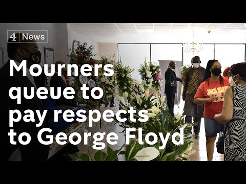 Mourners in North Carolina queue to pay their respects to George Floyd