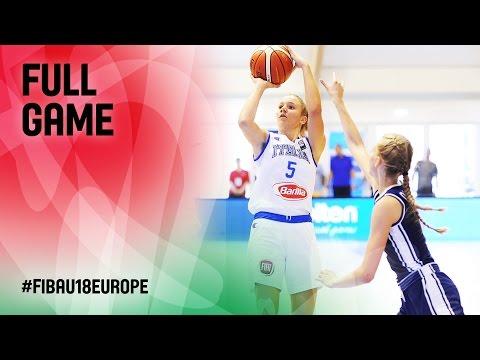 Italy v Slovak Republic - Full Game - R 16 - FIBA U18 Women's European Championship 2016
