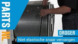 Niet-elastische snaar vervangen van droger, PartsNL uitleg