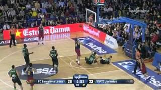 Basket Espana: Carlos Arroyo -Barcelona- vs Joventud Dic2015