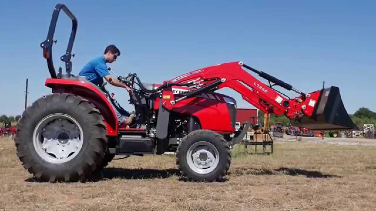 Massey Ferguson Tractor Loader Backhoe : Massey ferguson e tractor with loader hd demo video
