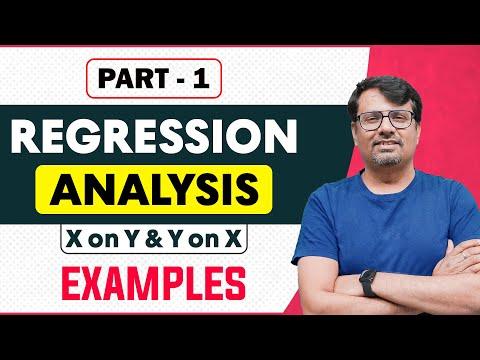 Regression Analysis, Regression Coefficient, Linear Regression Part-I