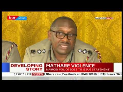 Nairobi Police boss-Japheth Koome confirms arrests for political leaders from Mathare
