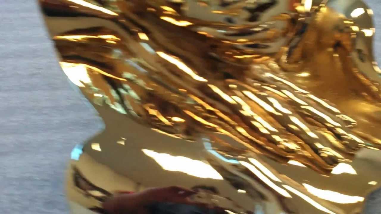 Spray Chrome Gold Sculpture