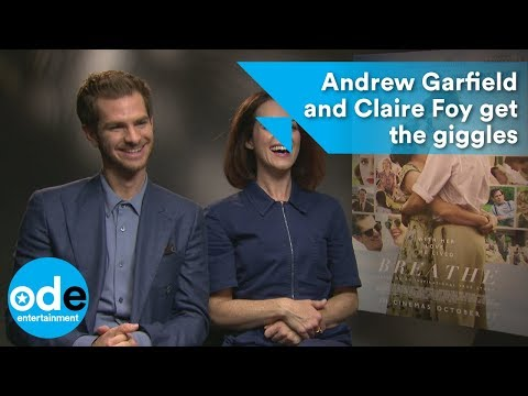 Breathe: Andrew Garfield and Claire Foy get the giggles