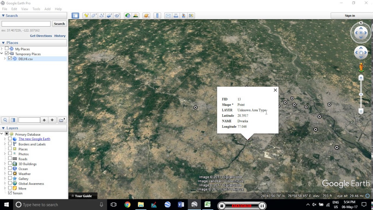 Import Coordinates + Attributes from Excel/Spreadsheet/CSV To Google Earth