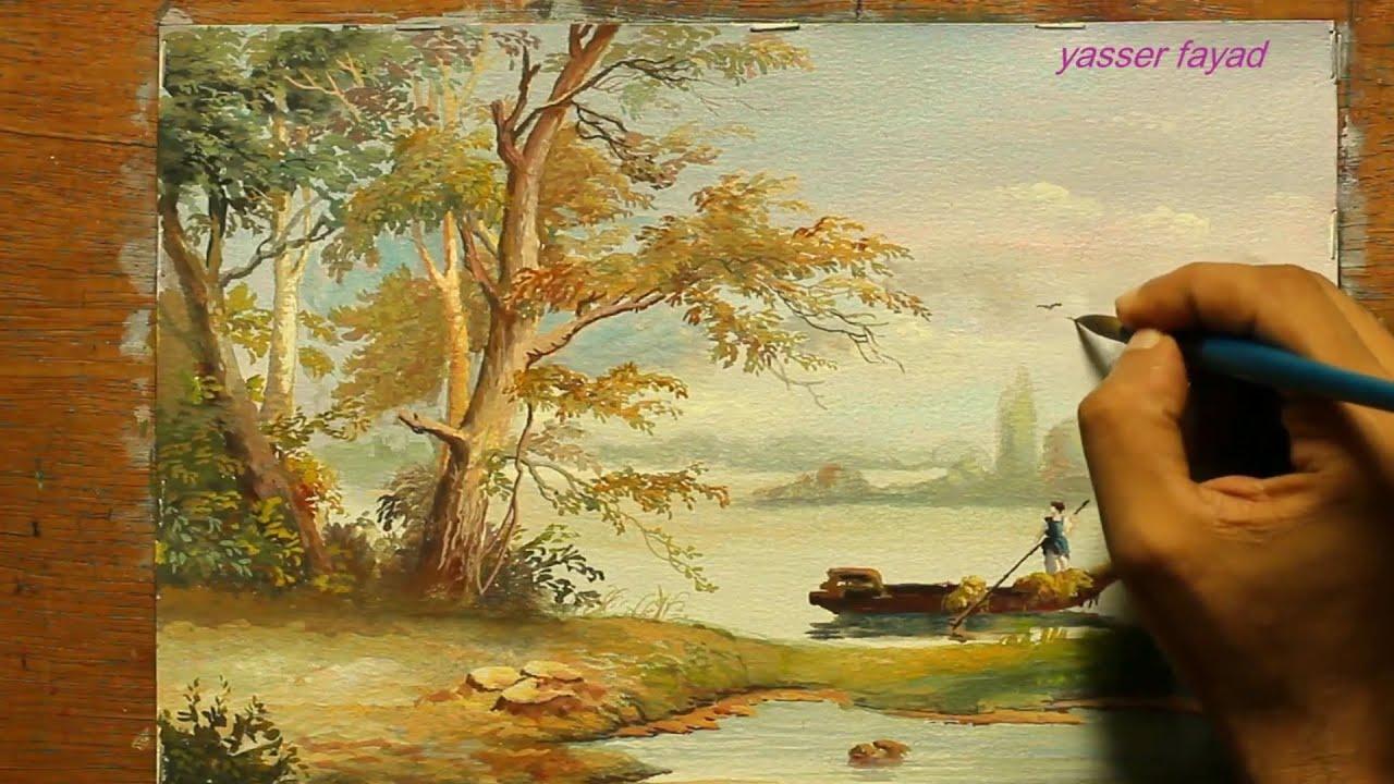 Vẽ tranh phong cảnh bằng màu poster |PENCIL ART