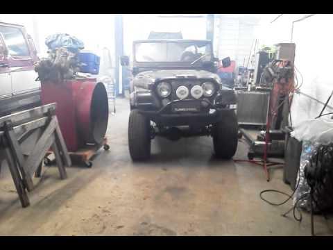 1973 jeep cj5 mercedes diesel youtube. Black Bedroom Furniture Sets. Home Design Ideas