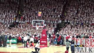 Flash Mob Maryland Basketball v Iowa