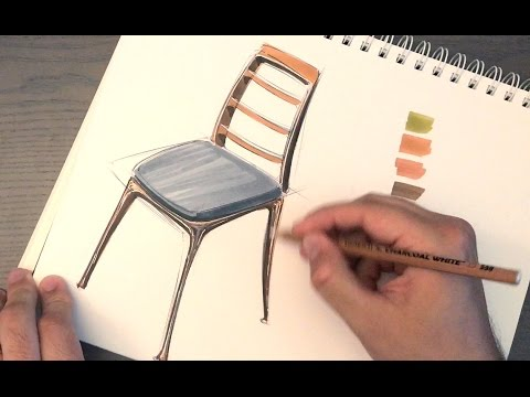 Design Sketching How To Draw A Chair Surprise Youtube
