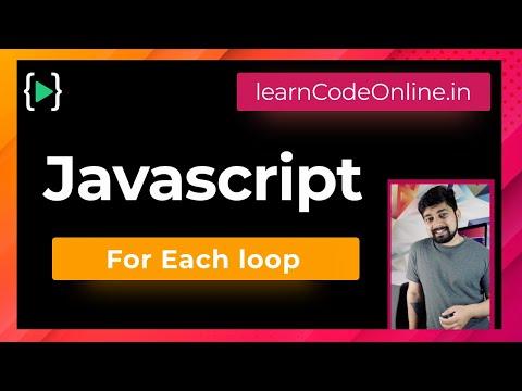 For Each loop in javascript
