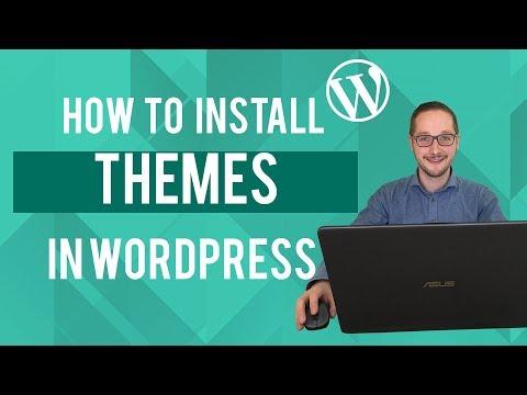 How to install wordpress themes Tutorial thumbnail