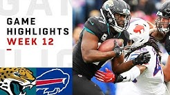 Jaguars vs. Bills Week 12 Highlights | NFL 2018