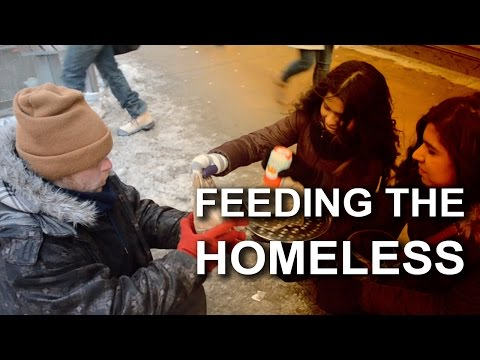 Feeding The Homeless In Downtown Toronto