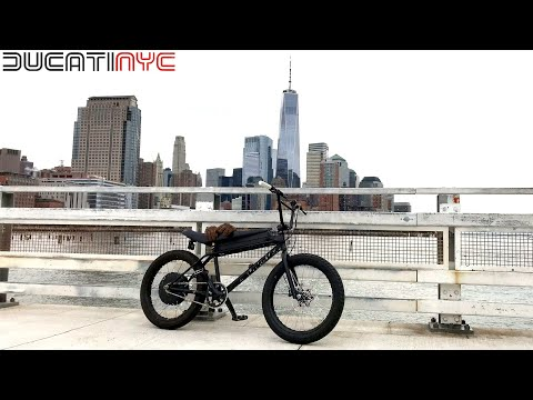 chased by a road bike, passing EVERYONE along west side highway - Zooz E-Bike in NYC pt 1 v1147