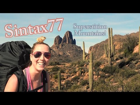 Hiking the Superstition Mountains - Desert Backpacking in Ar
