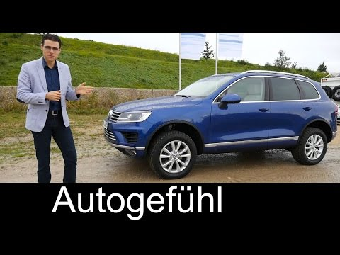 2016/2015 Volkswagen Touareg review + OFFROAD test ride VW Touareg Facelift - Autogefühl