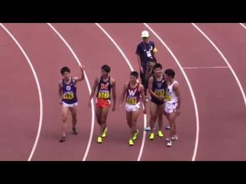 2015日本学生陸上 男子100m決勝 ...