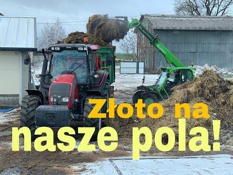 #189- Tata kręci Vloga! - załadunek i transport obornika! Valtra n101 + merlo 25.6